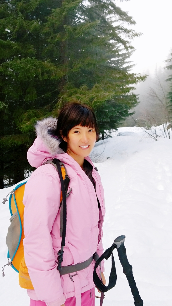 Photo of Shufan snowshoeing