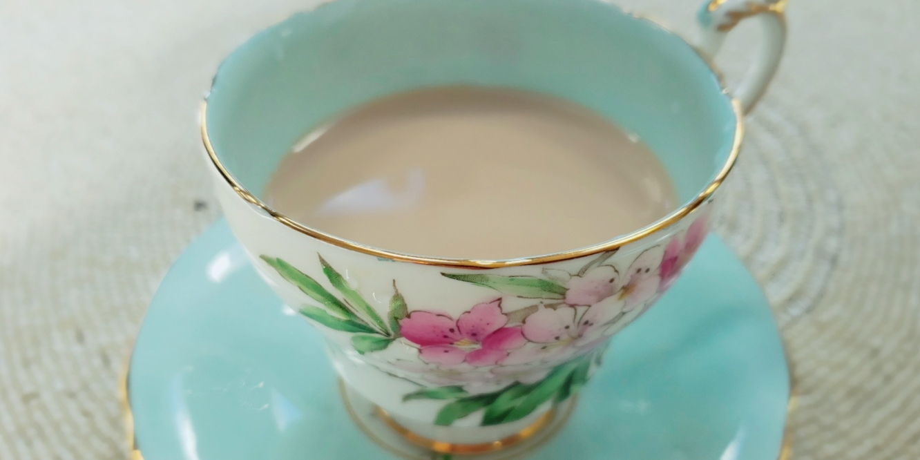 A cup of perfect milk tea